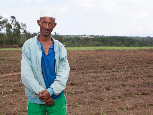 Farmer Bekne Nagi doubled his yield in 2013. He learned