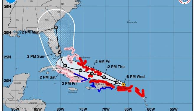 Hurricane Irma 8 p.m. advisory on Sept. 6, 2017