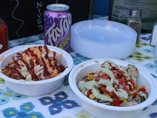 Comfort Bowl and Fiesta Bowl from the Delectabowl food truck.