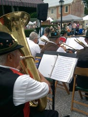 The Shippensburg German Band is a Corn Festival tradition.