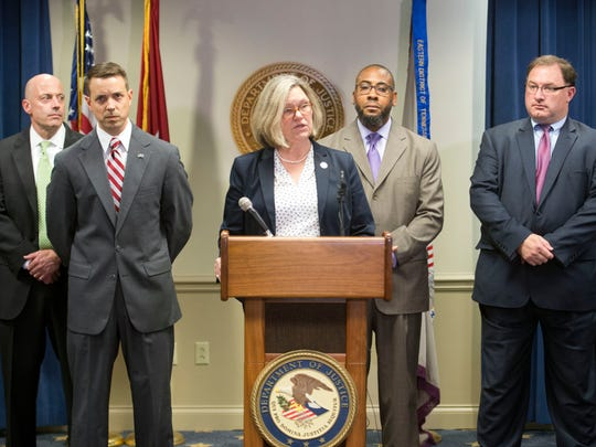 Nancy Stallard Harr, U.S. attorney for the Eastern District of Tennessee, announces the district's participation in the Department of Justice's Opioid Fraud and Abuse Detection Unit.