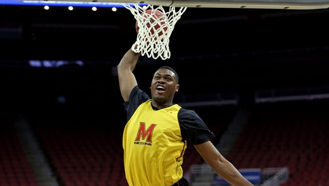 Maryland Terrapins center Diamond Stone is the heaviest prospect at the NBA draft combine.