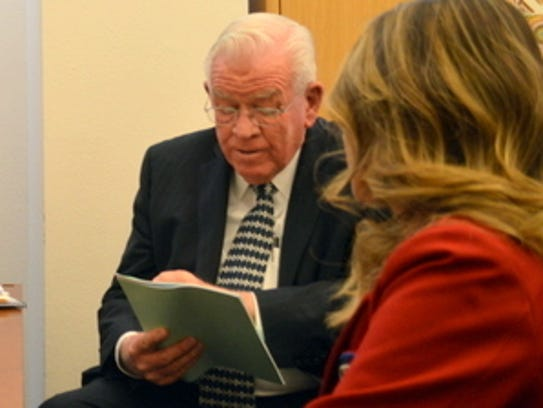 New Mexico Senator John Arthus Smith visits with Deming