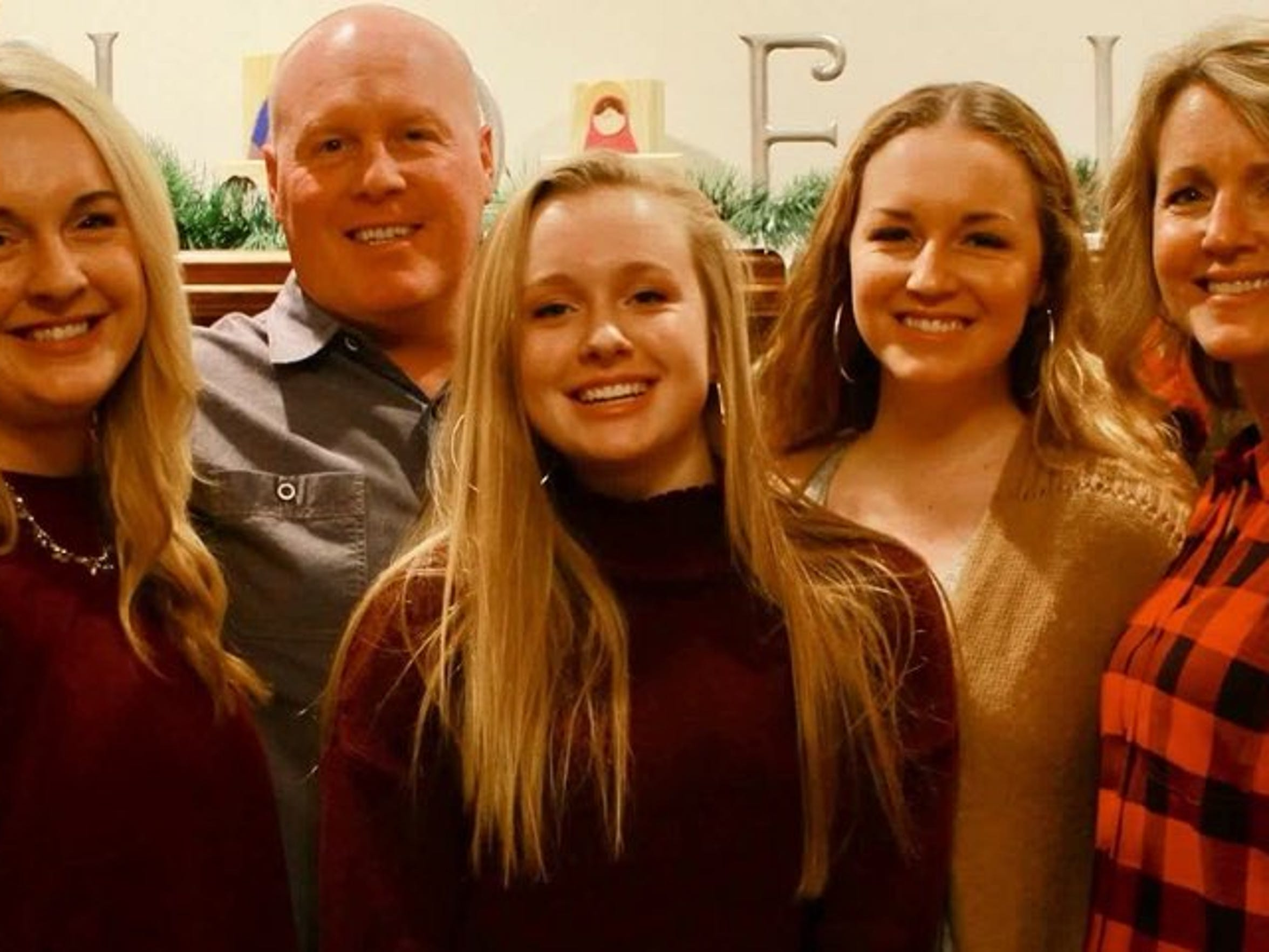 The Kunkel family: Carly, Meghan, Katie, Kathleen and