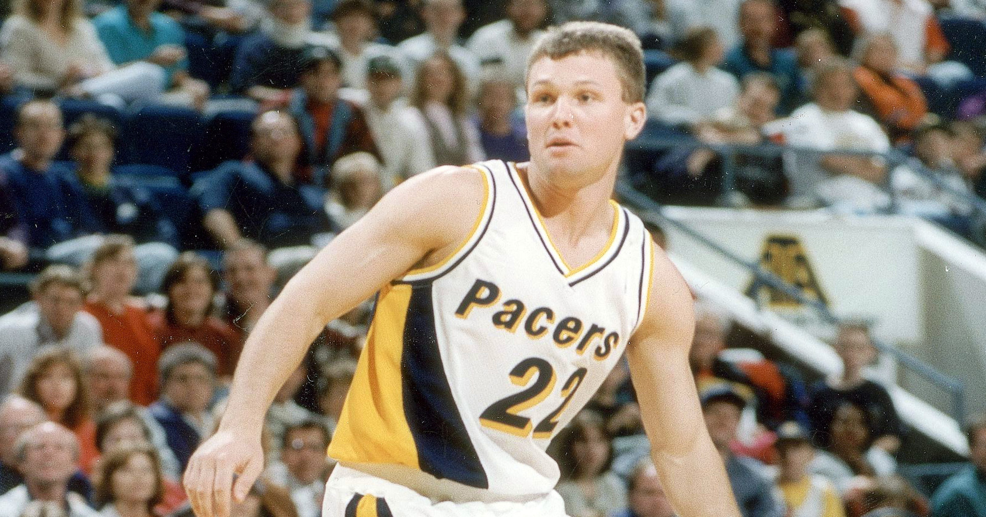 A Damon Bailey Indiana Pacers jersey in Canada named  most bizarre ... 2b3b57633
