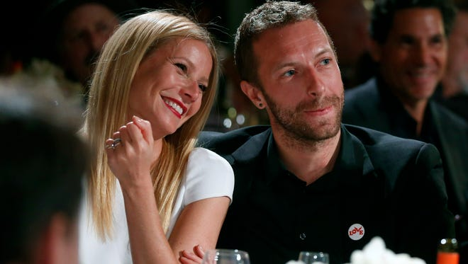 Gwyneth Paltrow and then husband Chris Martin in Beverly Hills, in January 2014.