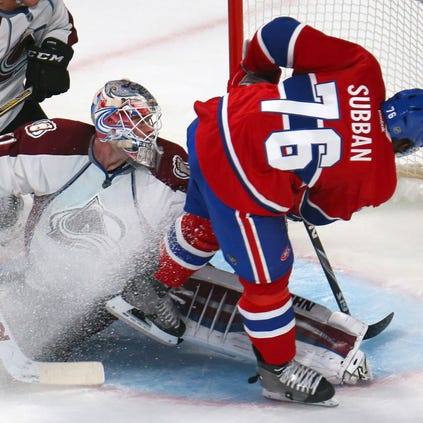 Oct 18, 2014; Montreal, Quebec, CAN; Montreal Canadiens