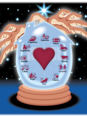 01-13-2004 1e; ZODIAC: Illustration depicts how your astrological sign can influence your love life. Illustration by Gannett News Service.