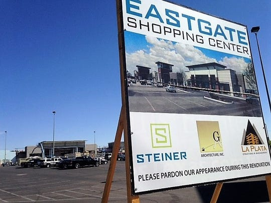 A new Sprouts is under construction behind a sign showing what the rebuilt Eastgate shopping center will look like. Its located at 9801 Gateway West Blvd., and McRae Boulevard in East El Paso.