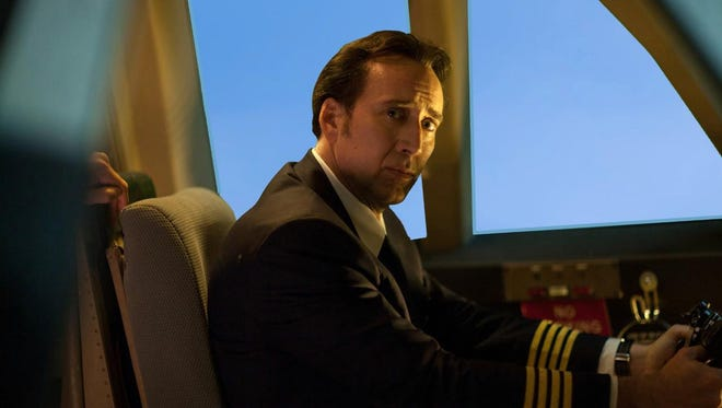"Nicolas Cage stars as a pilot in the faith-based  ""Left Behind."""