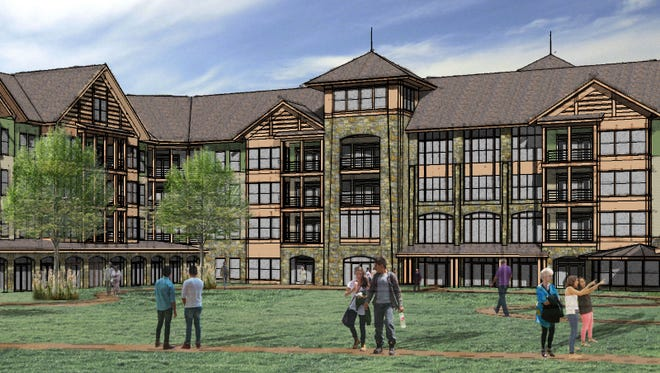 A preliminary rendering for the proposed Senior Learning Community at Purchase College.