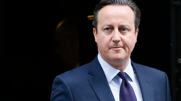 Britain's Prime Minister David Cameron leaves 10 Downing