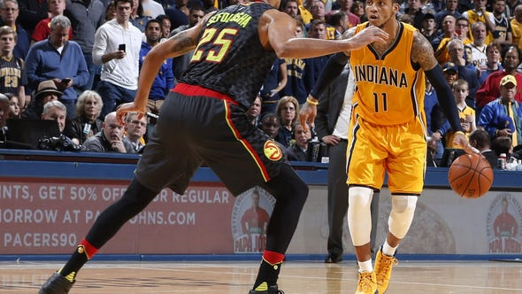 Indiana Pacers guard Monta Ellis (11) is guarded by