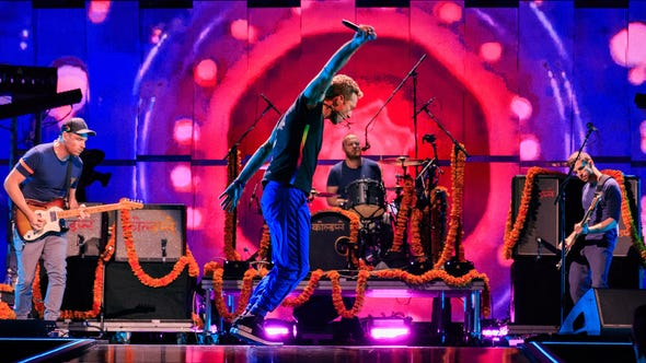Musician Chris Martin of Coldplay performs onstage
