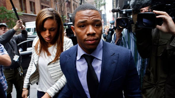 FILE - In this Nov. 5, 2014, file photo, Ray Rice arrives