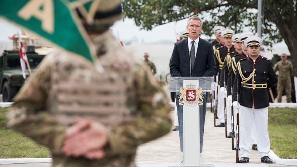 NATO Secretary General Jens Stoltenberg visits Georgia