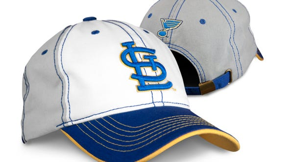 Limited edition St. Louis Blues themed Cardinals cap