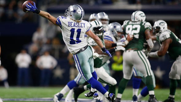 Dallas Cowboys wide receiver Cole Beasley (11) cannot