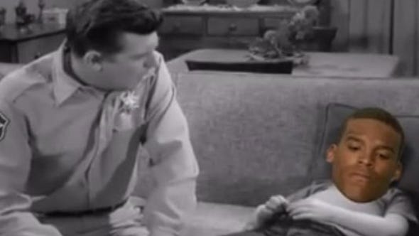 Video of Andy Griffith giving advice to Cam Newton