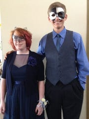 Oregon Connections Academy student Ella Fay from Turner and her date Gregory Warren ofSalem, both 9th grade students, at ORCA's first-ever prom, held Saturday, April 23 at the Chemeketa Eola Viticulture Center.