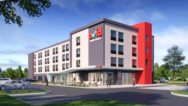 IHG's avid hotels will debut in 2019. This is a rendering of a property.