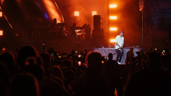 Jay-Z performs during Austin City Limits Music Festival on Friday in Austin.