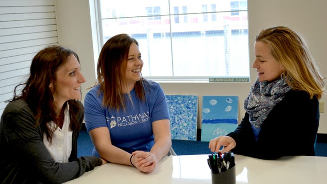 From left, Board Vice President Stacy Borgio, Board President Kari Sherwood and Executive Director Stephanie Bondra are working to open the doors of Pathway Inclusion Center by June 1. The center will offer childcare and services for children with and without disabilities.