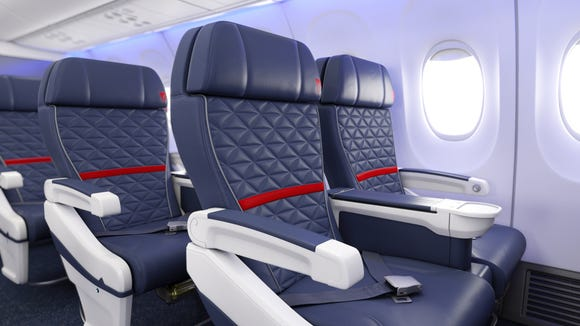 Delta's update First Class cabin as seen on one of