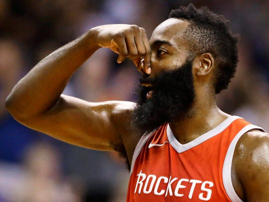 If you think James Harden will have more points in his Feb. 3 game vs. Cleveland than Patriots running back James White has in Super Bowl LII, there's a prop bet for that.