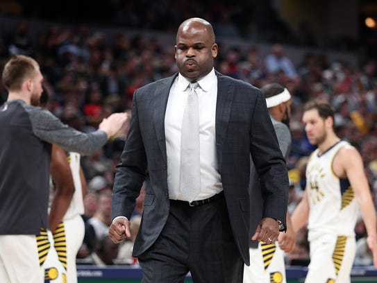 A disappointed Indiana Pacers head coach Nate McMillan