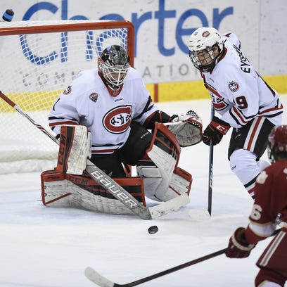 SCSU goalie is a Canadian who played prep basketball