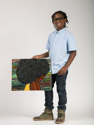 Nalin Isme, 10, of Estero, has found his voice and success in art.