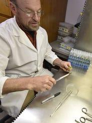 U.S. Potato Gene Bank program manager Max Martin transfers
