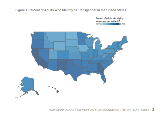 Utah has one of the lowest populations of transgender citizens.