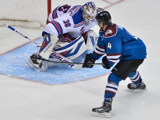 Rangers lose to Avalanche in shootout April 2014