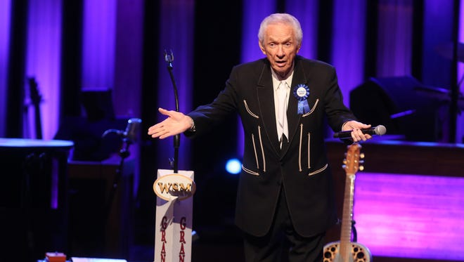 Mel Tillis performs at the Grand Ole Opry on Aug. 8, 2015. The singer and songwriter has been a member of the Opry since 2007.