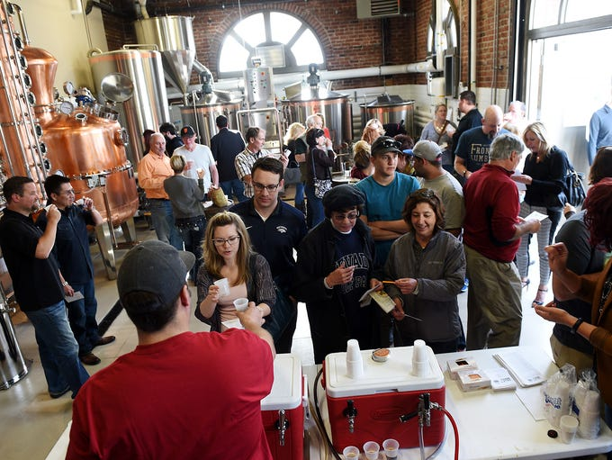 People take part in the RGJ Beer Bracket Tasting Finals