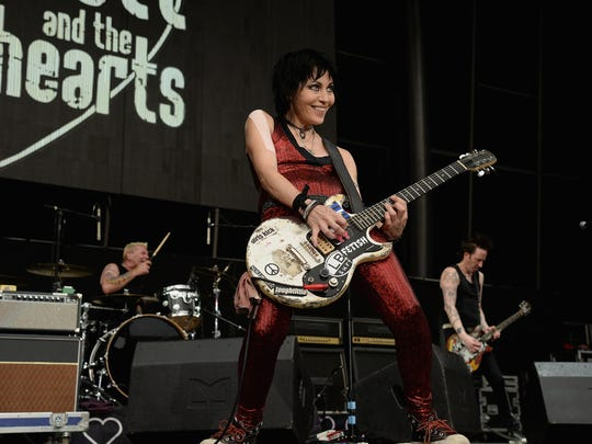 Joan Jett performs onstage during the Foo Fighters