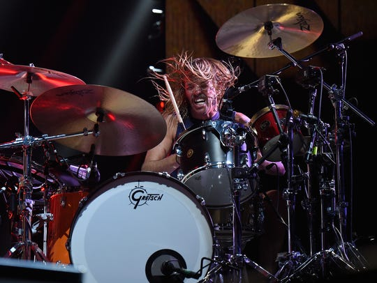 Taylor Hawkins of Foo Fighters performs onstage during