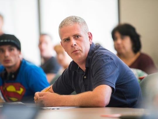 Broome County Legislator Jason Garnar speaks in favor