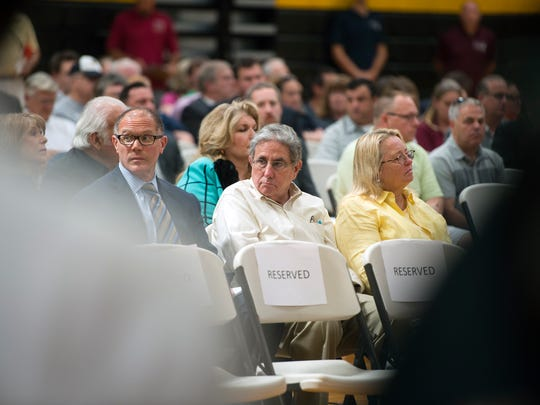 Tioga Downs owner Jeff Gural was in attendance as the New York State Gaming Facility Location Board listened to comments from residents and local politicians during a public comment event at SUNY Broome on Friday.
