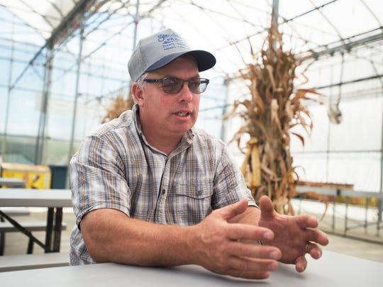 Tim Stoughton, owner of Stoughton Farms in Newark Valley.