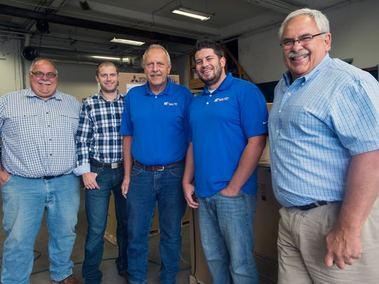 From left, Richard Miller, Ed Miller Jr., Ed Miller, Tom Miller, and Glenn Miller, who own and operate Sure Temp Heating and Cooling in Binghamton.