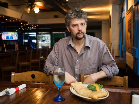 Nick Lazaros, owner of the Greek Key Restaurant & Bar in Endicott, photographed in October.