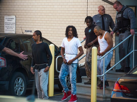 Defendants were arraigned in federal court on Tuesday afternoon after police raided 11 locations in Binghamton and one in Johnson City on drug and gun charges.
