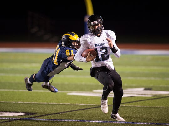 Bishop Kearney quarterback Todd LaRocca rushes for