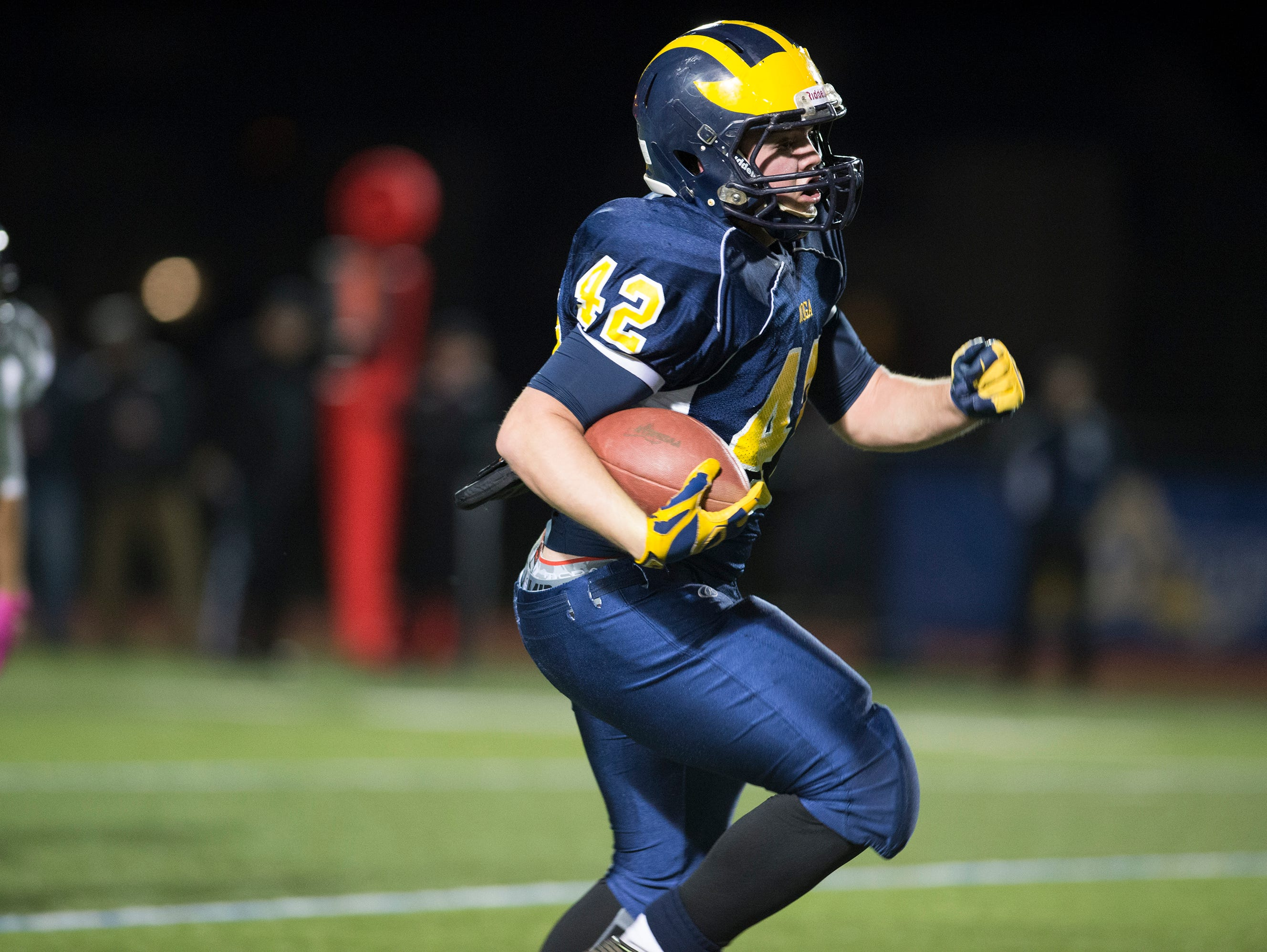 Tioga took on Bishop Kearney in the Class D state playoff semifinals at Cicero-North Syracuse on Friday, Nov. 20, 2015.