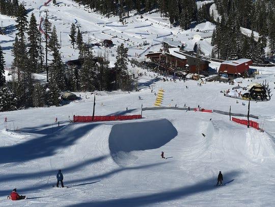 Riders enjoy the Snow Park Technologies designed half