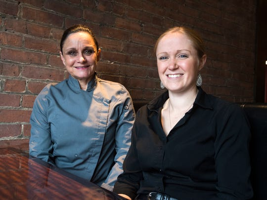 Main Street Grill and Bakery Owner Elizabeth Dawson, Afton, 58, left, and front of the house manager Kristie Fisher.