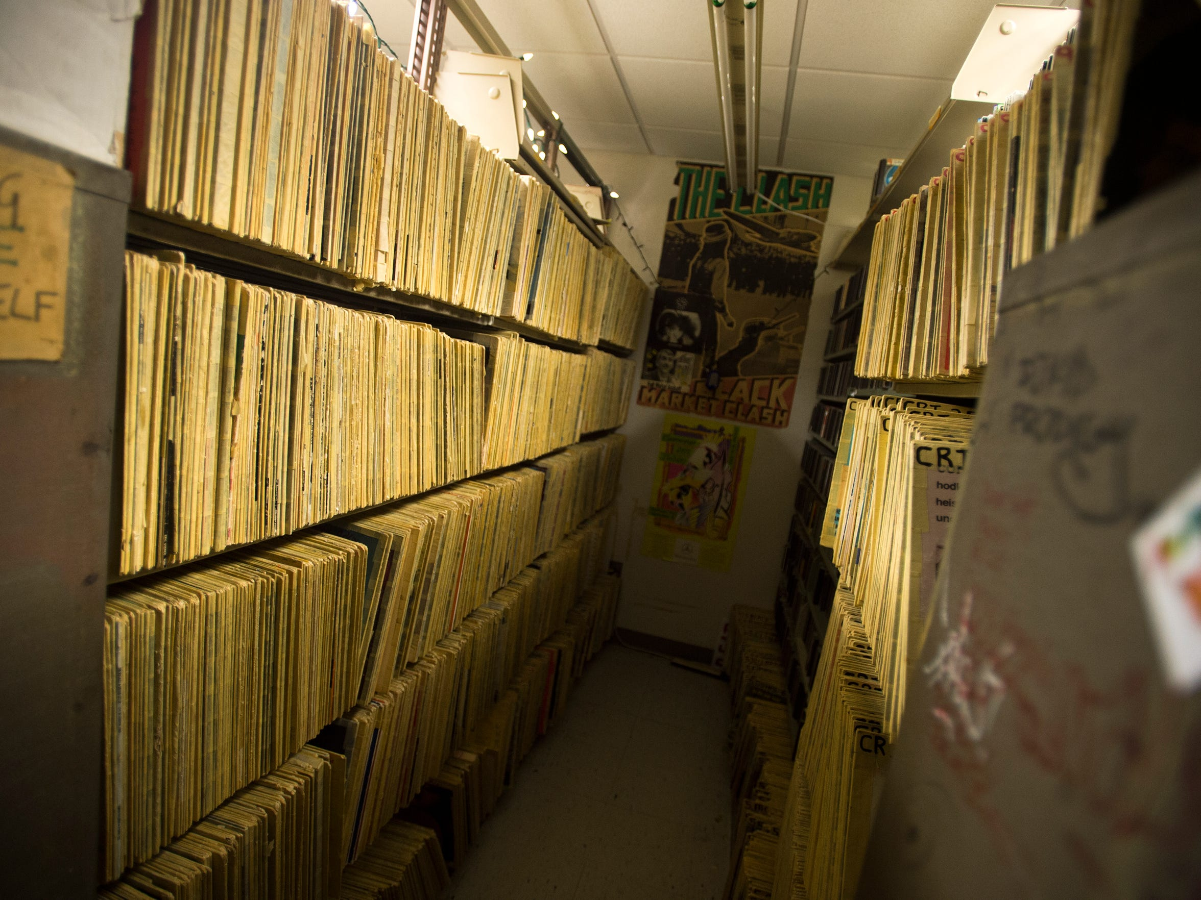 While much of WHRW's music is now stored digitally, hundreds of vinyl records still remain in the station's headquarters.